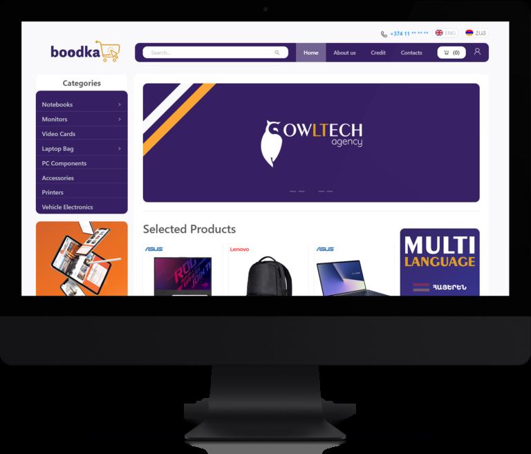 boodka - online shop website