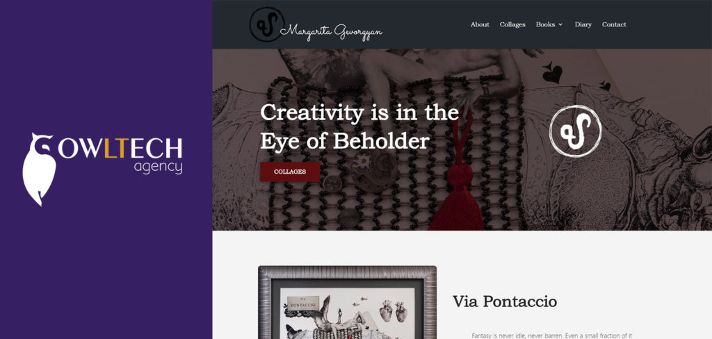 The creation of a gallery website